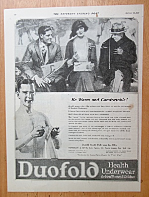 1921 Duofold Health Underwear with Woman & Men  (Image1)