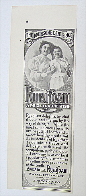 1907 Rubifoam with Mother & Daughter Smiling  (Image1)