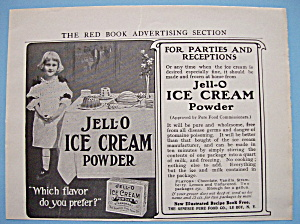 Vintage Ad: 1906 Jell-O Ice Cream Powder (Image1)