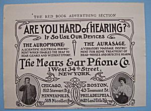 Vintage Ad: 1906 Mears Ear Phone Company (Image1)
