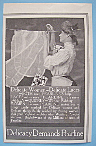 1907 Pearline with Woman Hanging a Lace on Clothesline (Image1)