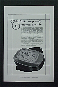 1917 Resinol Soap with a bar of Soap  (Image1)