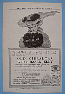 1906 Old Gibraltar Witch-Hazel Jelly with Lovely Woman (Image1)