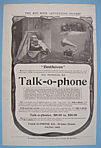 1906 Talk-O-Phone with Two Children Sitting & Listening (Image1)
