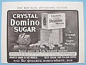 Vintage Ad: 1906 Crystal Domino Sugar (Image1)