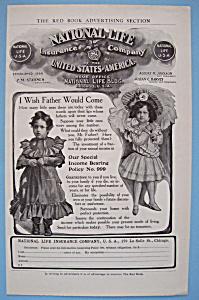 Vintage Ad: 1905 National Life Insurance Co. (Image1)