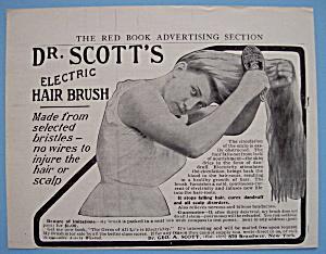 Vintage Ad: 1905 Dr. Scott's Electric Hair Brush (Image1)