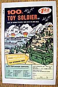 Vintage Ad: 1965 100 Pc Toy Soldier Set (Image1)