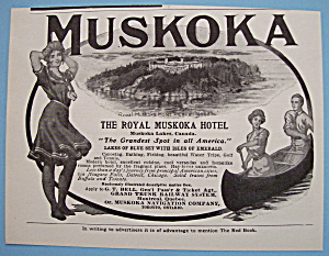 Vintage Ad: 1905 The Royal Muskoka Hotel (Image1)