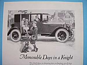 Vintage Ad: 1924 Willys - Knight Coupe Sedan