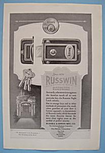 Vintage Ad: 1924 Russwin Distinctive Hardware (Image1)