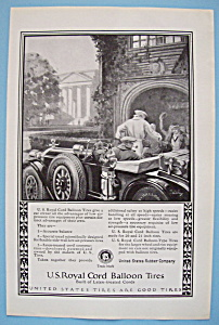Vintage Ad: 1924 U. S. Royal Cord Balloon Tires (Image1)