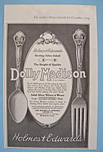 Vintage Ad: 1914 Holmes & Edwards Silver Co. (Image1)