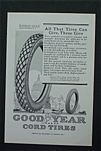 1917 Goodyear Cord Tires with Car Tire  (Image1)