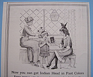 Vintage Ad: 1914 Indian Head (Image1)