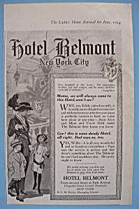 Vintage Ad: 1914 Hotel Belmont (Image1)