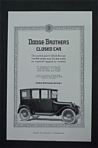 1917 Dodge Brothers Closed Cars With Old Fashioned Car