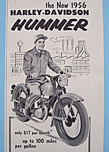 1955 Harley-Davidson Hummer with Man on Motorcycle (Image1)