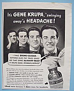 Vintage Ad: 1940 Bromo - Seltzer w/ Gene Krupa (Image1)