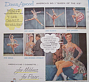 Vintage Ad: 1954 Camel Cigarettes w/ Donna Atwood (Image1)