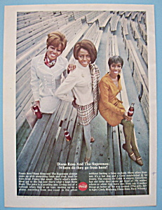 1968 Coca Cola W/diana Ross & The Supremes