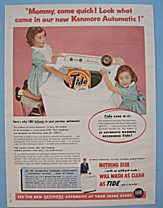 Vintage Ad: 1955 Kenmore Automatic & Tide Detergent (Image1)