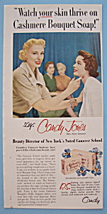 Vintage Ad: 1955 Cashmere Bouquet Soap W/candy Jones