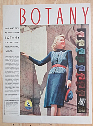 1940 Botany Yarns with Lovely Woman in a Lovely Dress (Image1)