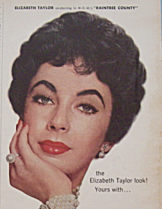 Vintage Ad: 1956 Woodbury Make Up w/ Elizabeth Taylor (Image1)