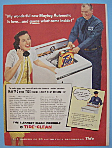 Vintage Ad: 1956 Maytag Automatic Washer (Image1)