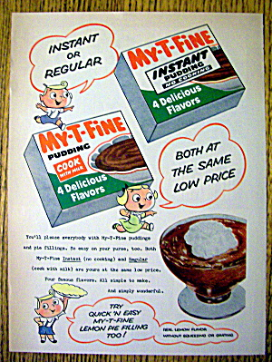 1956 My-T- Fine Pudding with Instant or Regular (Image1)