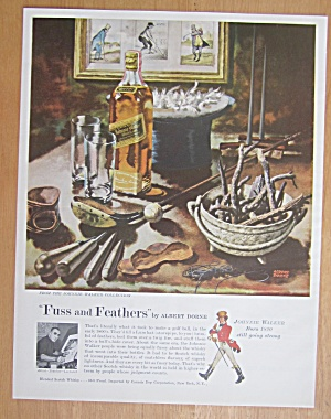 1959 Johnnie Walker Whiskey W/ Fuss & Feathers A. Dorne