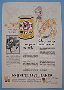 Vintage Ad: 1930 3 Minute Oat Flakes (Image1)