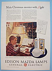 Vintage Ad: 1930 Edison Mazda Lamps (Image1)