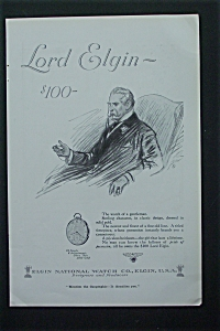 1917 Elgin National Watch Company With Man In A Chair