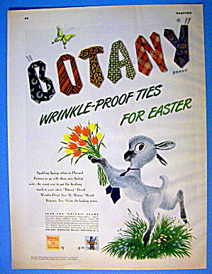 1947 Botany Ties With Lamb & Wrinkle Proof Ties