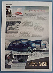 1940 Nash Automobile With Beam Lights