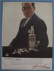 Vintage Ad: 1958 Smirnoff Vodka w/ Bernard De Haan (Image1)