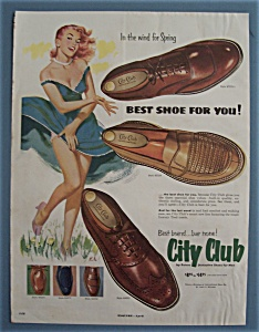 Vintage Ad: 1953 City Club Shoes For Men