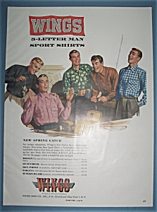 Vintage Ad: 1953 Wings Sport Shirts