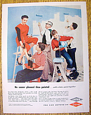 1957 Dow Latex Paint with Group of People Painting (Image1)