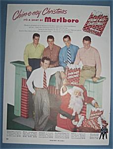Vintage Ad: 1950 Marlboro Shirts with Santa (Image1)