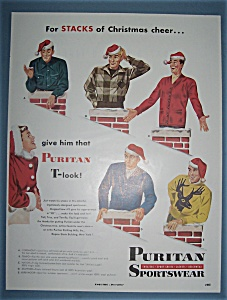 Vintage Ad: 1950 Puritan Sportswear (Image1)