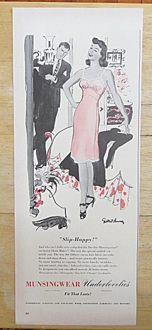 1942 Munsingwear with Woman Talking in Her Slip (Image1)