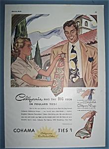 Vintage Ad: 1943 Cohama Ties (Image1)