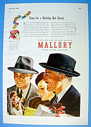 1938 Mallory Hats With Men Wearing The Velshire Club