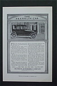 1917 Franklin Automobile Company With Old Fashioned Car