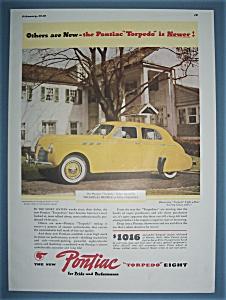 Vintage Ad: 1940 Pontiac Torpedo Eight (Image1)