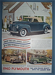 Vintage Ad: 1940 Plymouth Sportsman