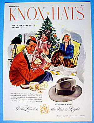 1945 Knox Hats with a Man Getting the Knox Tom & Jerry (Image1)